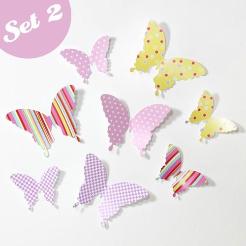 Wandtattoo 3d Schmetterlinge Bunt