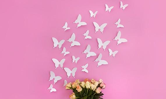 Wandtattoo 3d Schmetterlinge Weiss