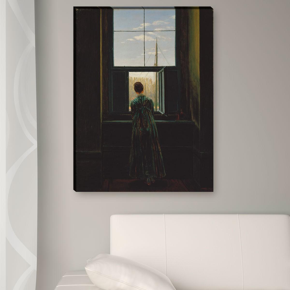 caspar david friedrich frau am fenster. Black Bedroom Furniture Sets. Home Design Ideas