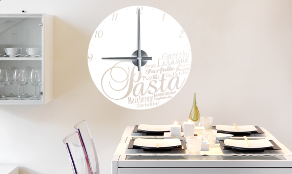 Wandtattoo Uhr - Pasta