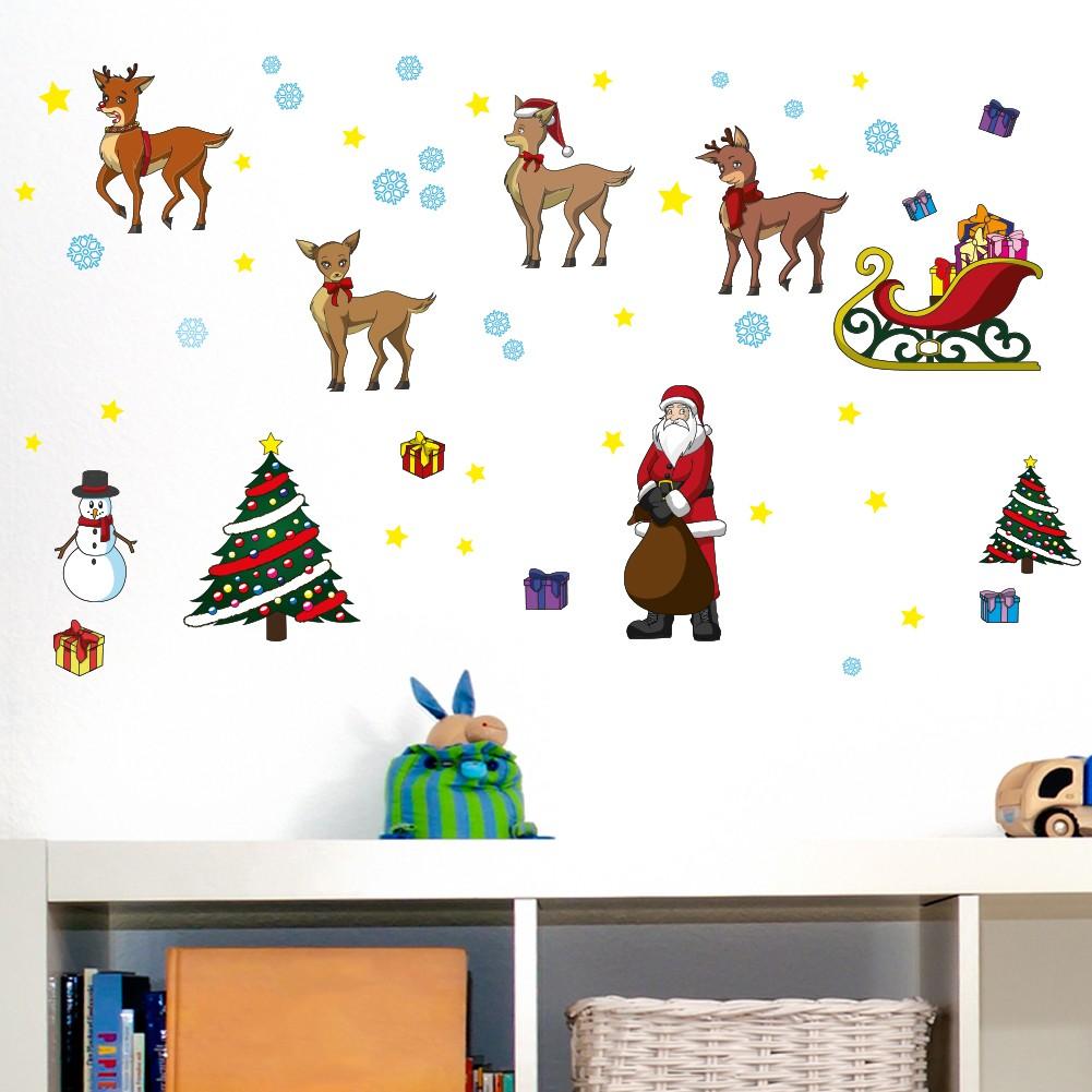 Wandsticker Set A4 - Weihnachten mit Rudolph und seinen Freunden