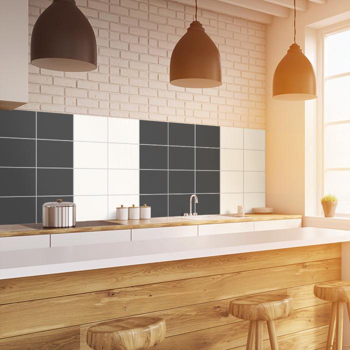 awesome fliesenspiegel k che berkleben ideas. Black Bedroom Furniture Sets. Home Design Ideas