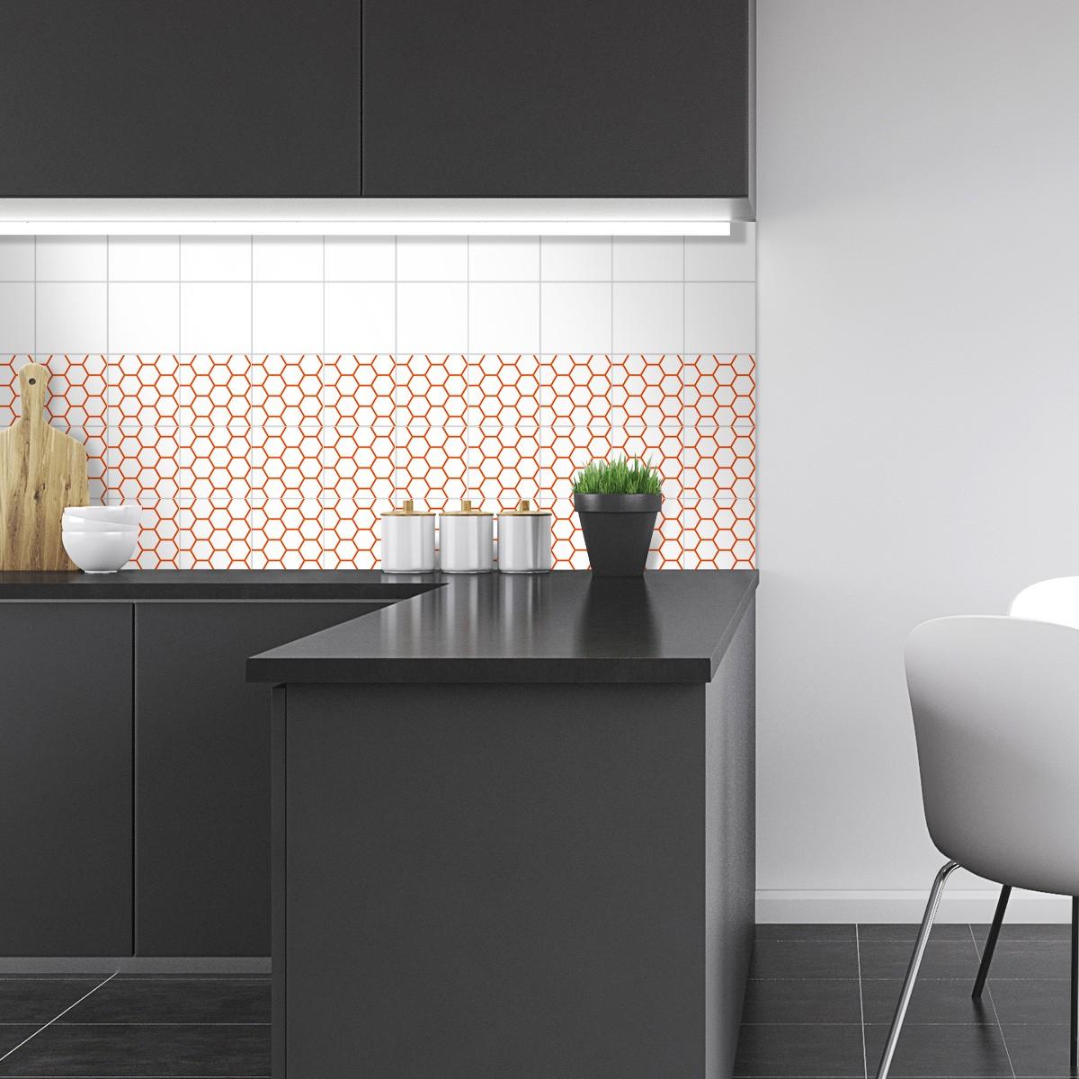 4er set fliesenaufkleber waben. Black Bedroom Furniture Sets. Home Design Ideas