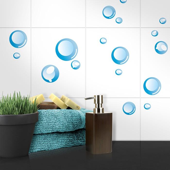 fliesenaufkleber set a4 seifenblasen. Black Bedroom Furniture Sets. Home Design Ideas