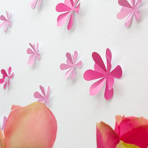 wandtattoo 3d blumen rosa. Black Bedroom Furniture Sets. Home Design Ideas