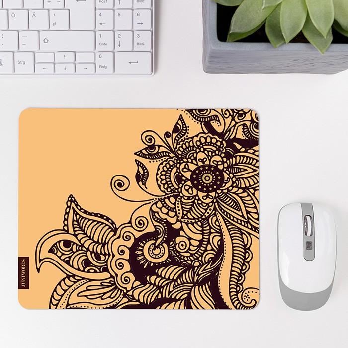 mousepad henna muster beige. Black Bedroom Furniture Sets. Home Design Ideas