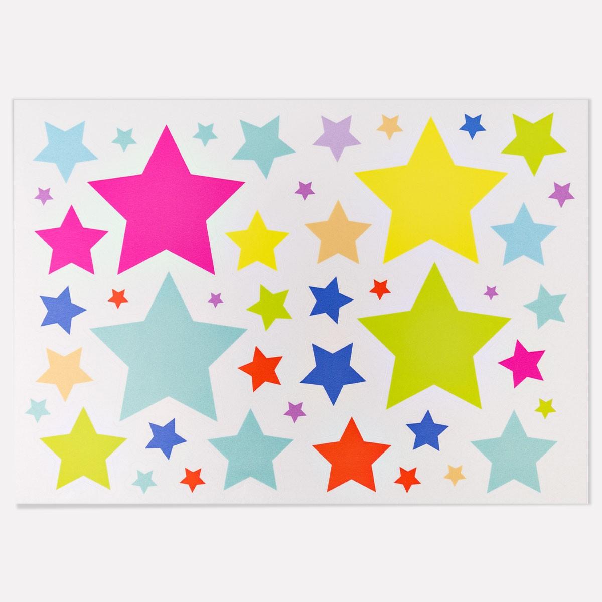 Wandkings Reflektierende Aufkleber Sterne