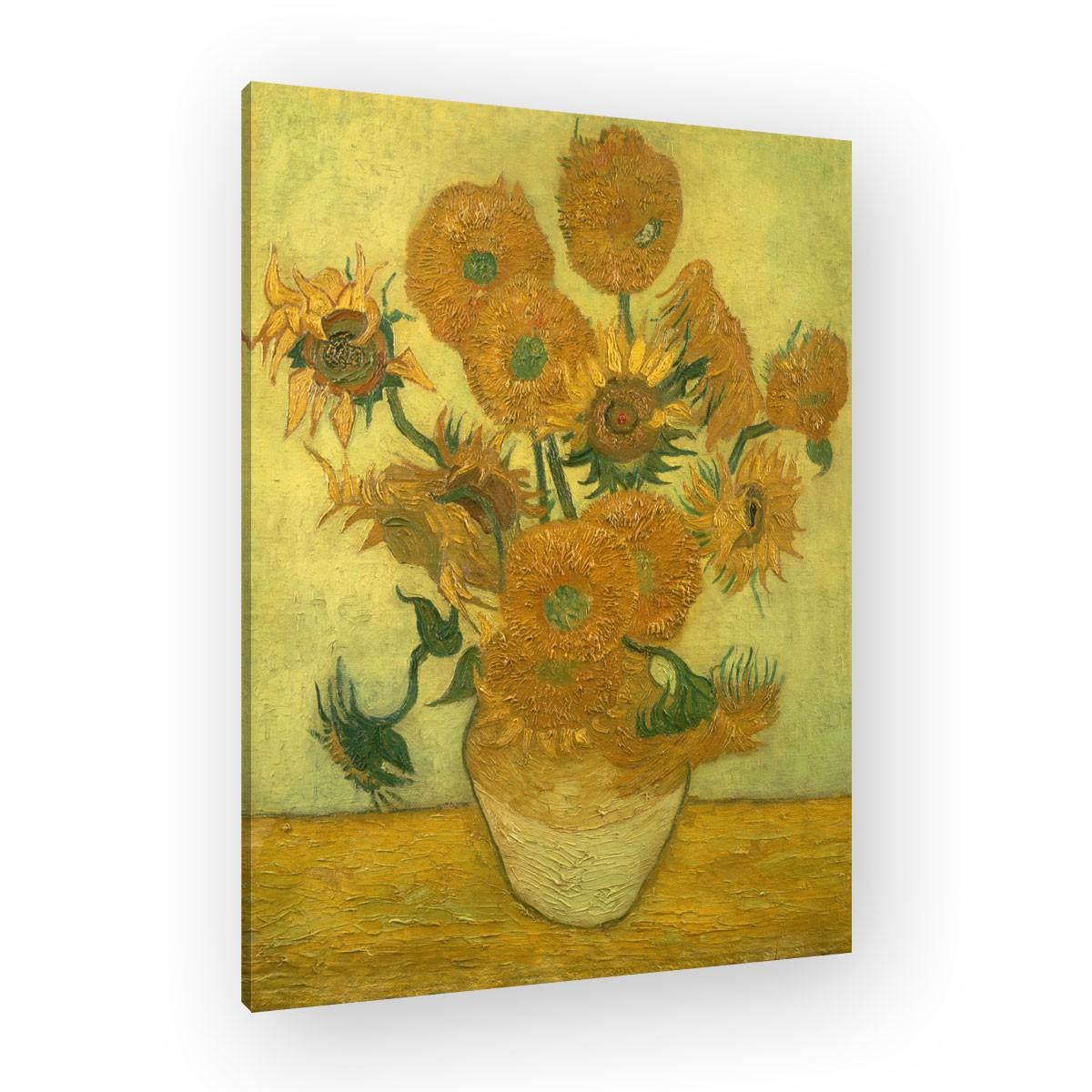 van gogh vierzehn sonnenblumen in einer vase. Black Bedroom Furniture Sets. Home Design Ideas