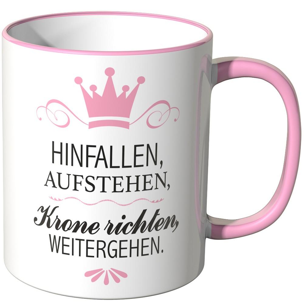"""weitergehen/"""" JUNIWORDS Turnbeutel Motiv /""""Hinfallen aufstehen Krone richten"""