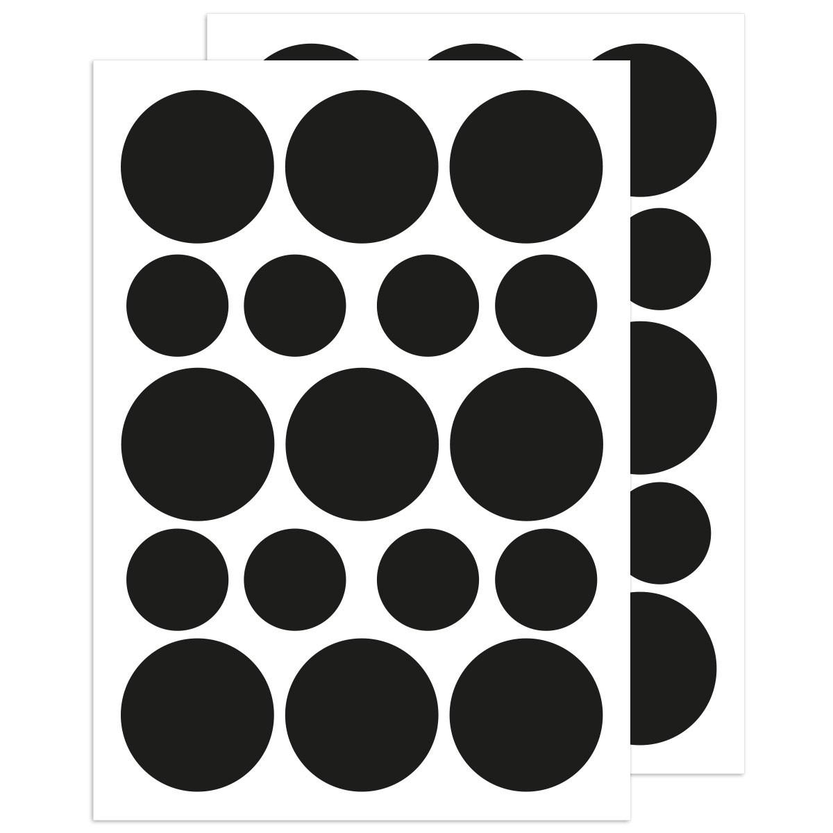 Impressive Wandtattoo Kreise Ideas Of Tafelfolie - Etiketten 34 Stück