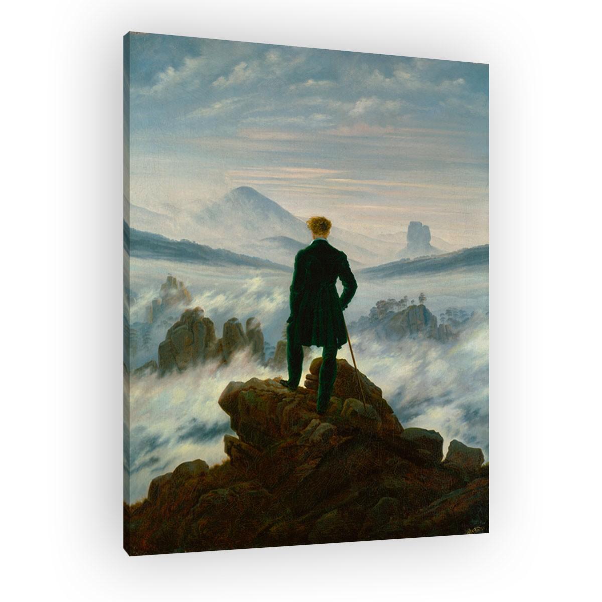 caspar david friedrich der wanderer ber dem nebelmeer. Black Bedroom Furniture Sets. Home Design Ideas