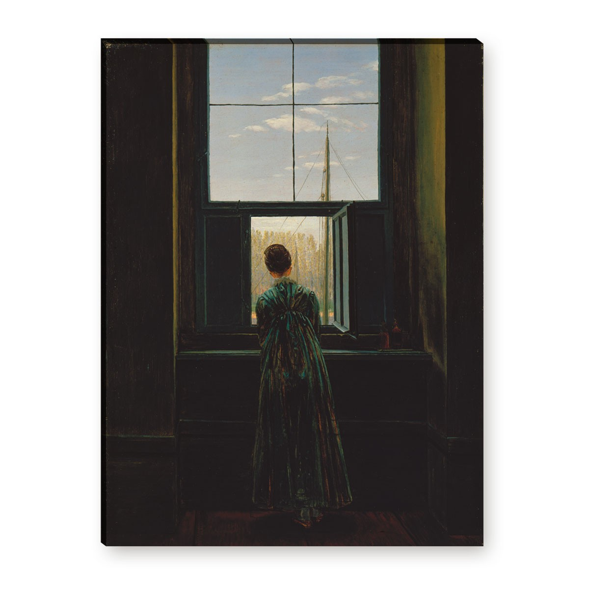 caspar david friedrich frau am fenster. Black Bedroom Furniture Sets. Home Design Ideas