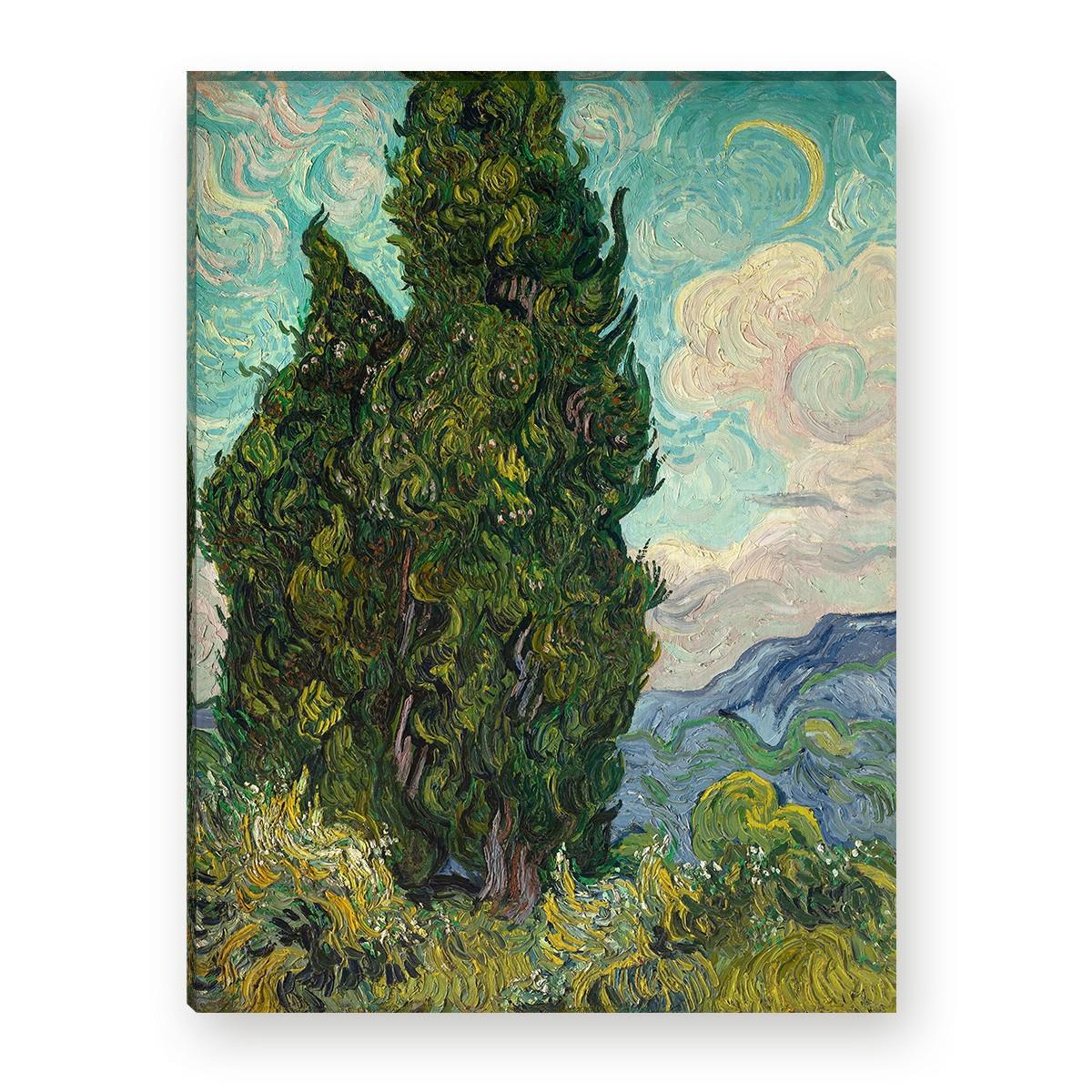 "WANDKINGS Leinwandbild Van Gogh /""Zypressen/"""