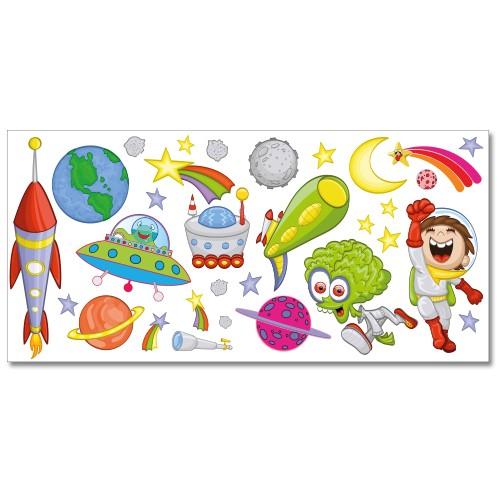 Wandsticker set xl weltraum und planeten for Weltraum kinderzimmer
