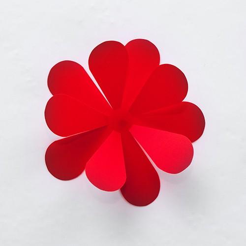 Home Wandtattoo Wandtattoo 3D  Blumen rot
