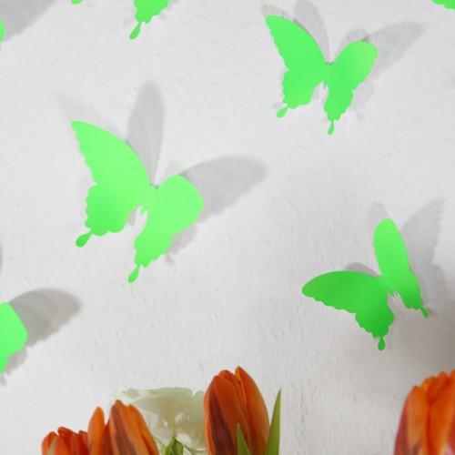 3D - Schmetterlinge neon grün