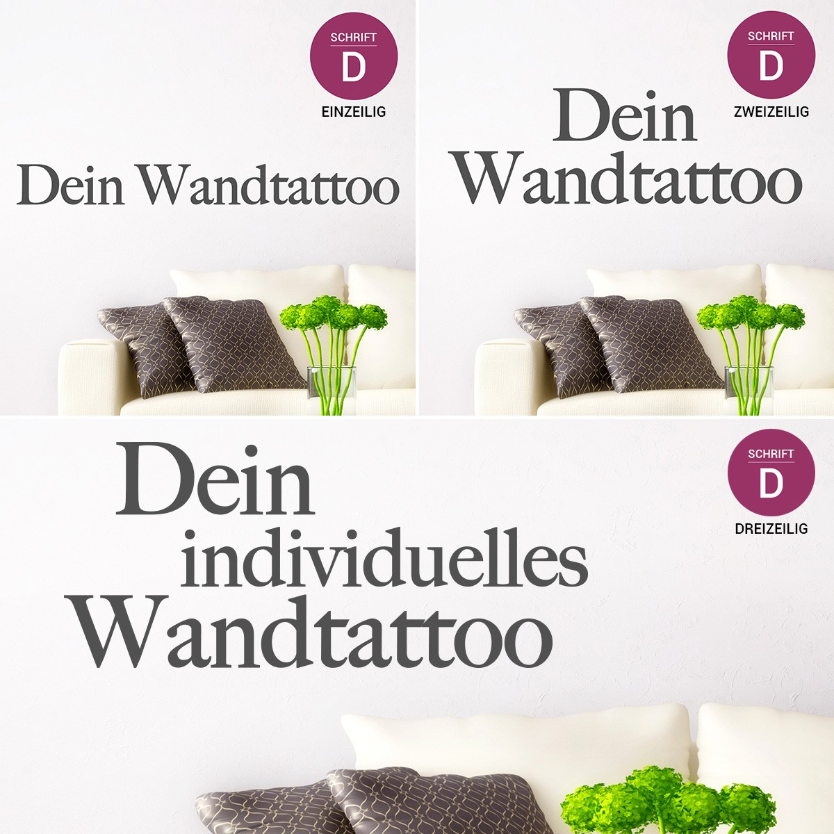 dein spruch als wandtattoo. Black Bedroom Furniture Sets. Home Design Ideas