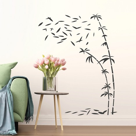 Wandtattoo Bambus im Wind