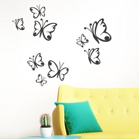 Wandtattoo Schmetterling 3er-Set
