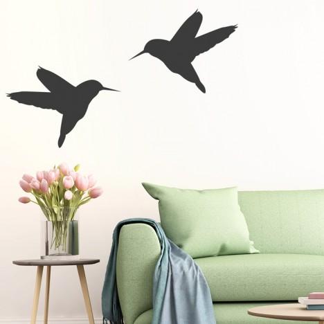 2 Kolibris Wandtattoo