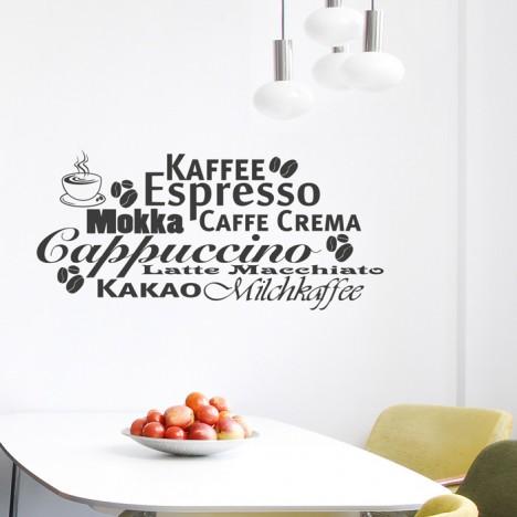 Wandtattoo kaffee espresso welt - Fliesensticker kaffee ...
