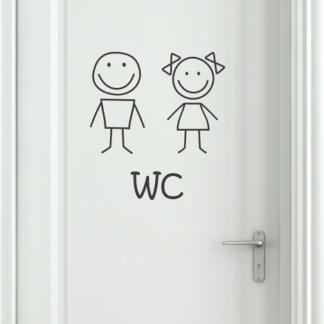 Wandtattoo WC Smiley