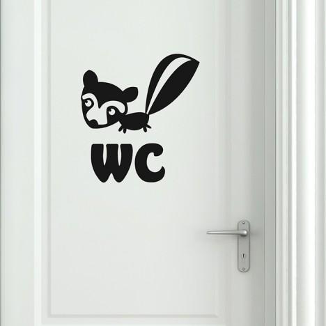 WC Stinktierchen Wandtattoo