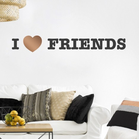 I LOVE FRIENDS Wandtattoo