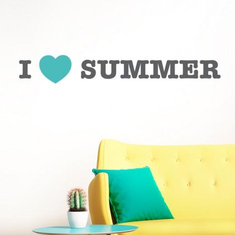 I LOVE SUMMER Wandtattoo
