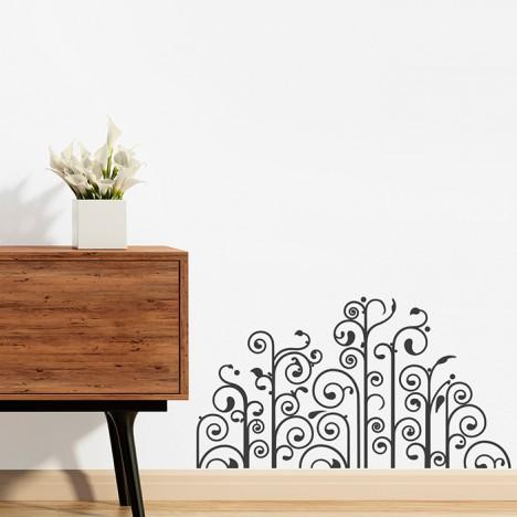 Design Bodenschnörkel Wandtattoo