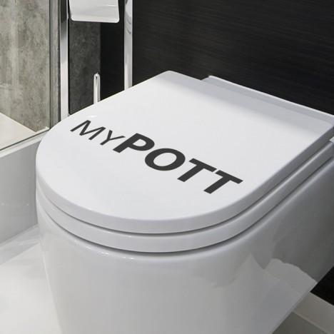 my Pott WC-Deckel-Aufkleber