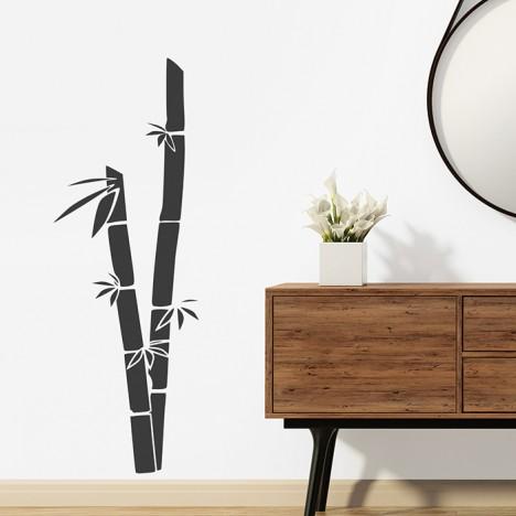 Kleine Bambus Halme Wandtattoo