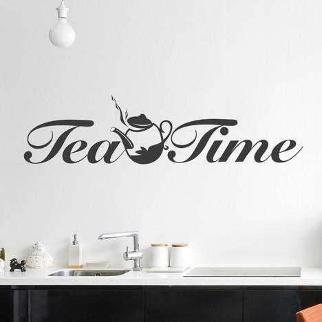Wandtattoo Tea Time
