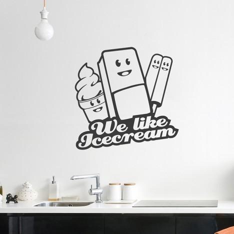 We like Icecream Wandtattoo