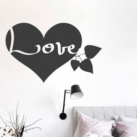 Love Herz Wandtattoo
