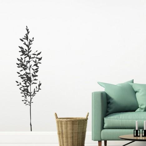 schöne Pflanze Wandtattoo