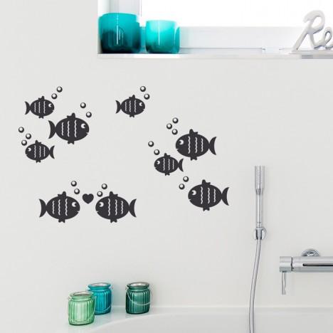 Fische Set Wandtattoo