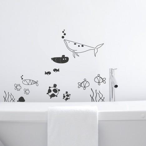 Unterwasserwelt Set Wandtattoo