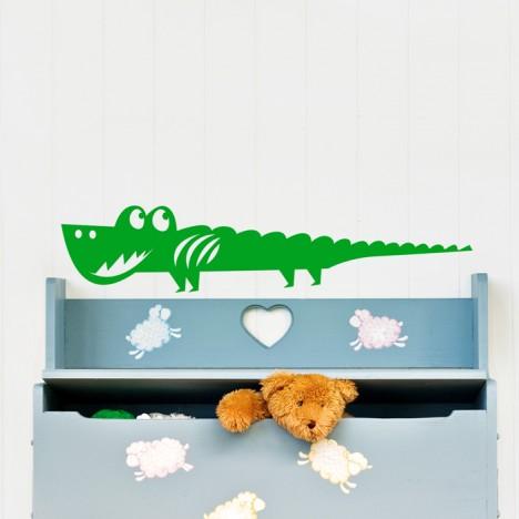 Krokodil Wandtattoo