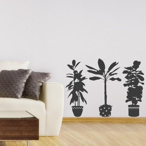 schöne Topfpflanzen Wandtattoo