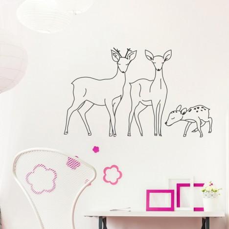 Bambi Familie Wandtattoo