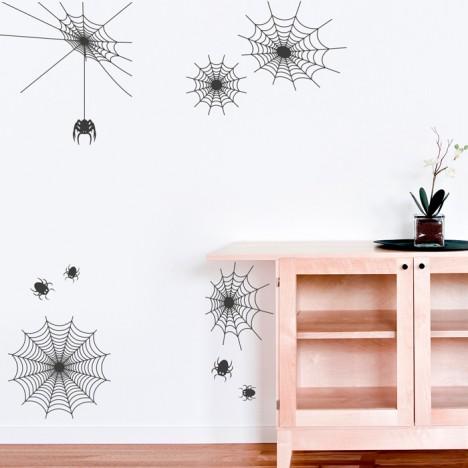 Wandtattoo Spinnennetze Set