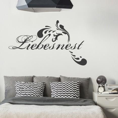 Wandtattoo Spruch - Liebesnest