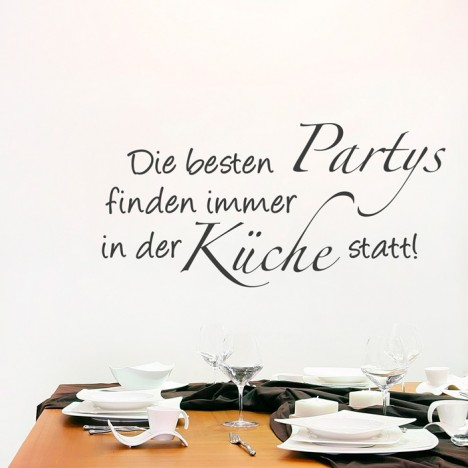 Wandtattoo Spruch - Die besten Partys ...