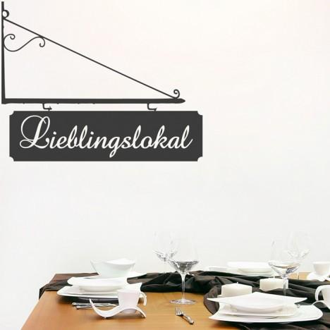 Wandtattoo Spruch - Lieblingslokal