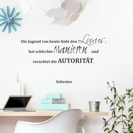 Wandtattoo Zitat - Die Jugend von heute ...