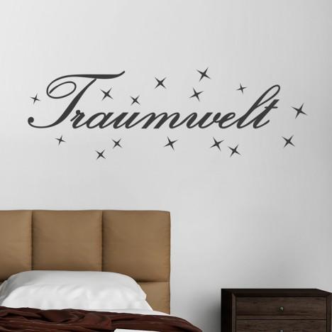 Wandtattoo Spruch - Traumwelt