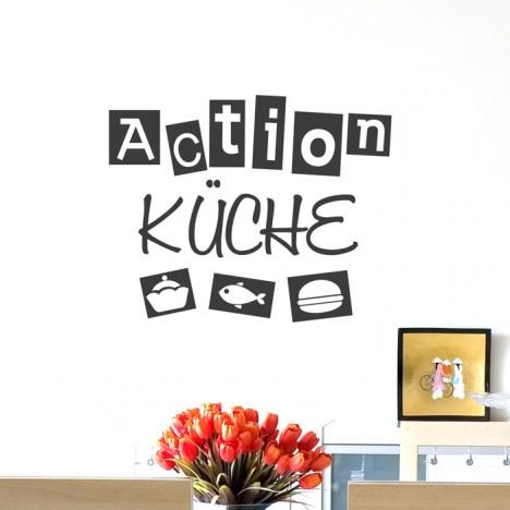 Wandtattoo Spruch - Actionküche