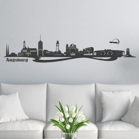 Wandtattoo Skyline Augsburg