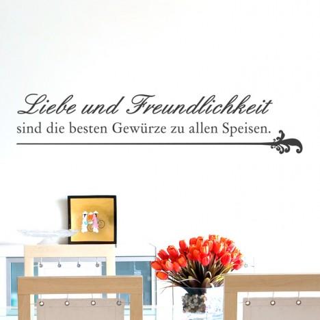 Wandtattoo Spruch - Liebe und Freundlichkeit ...